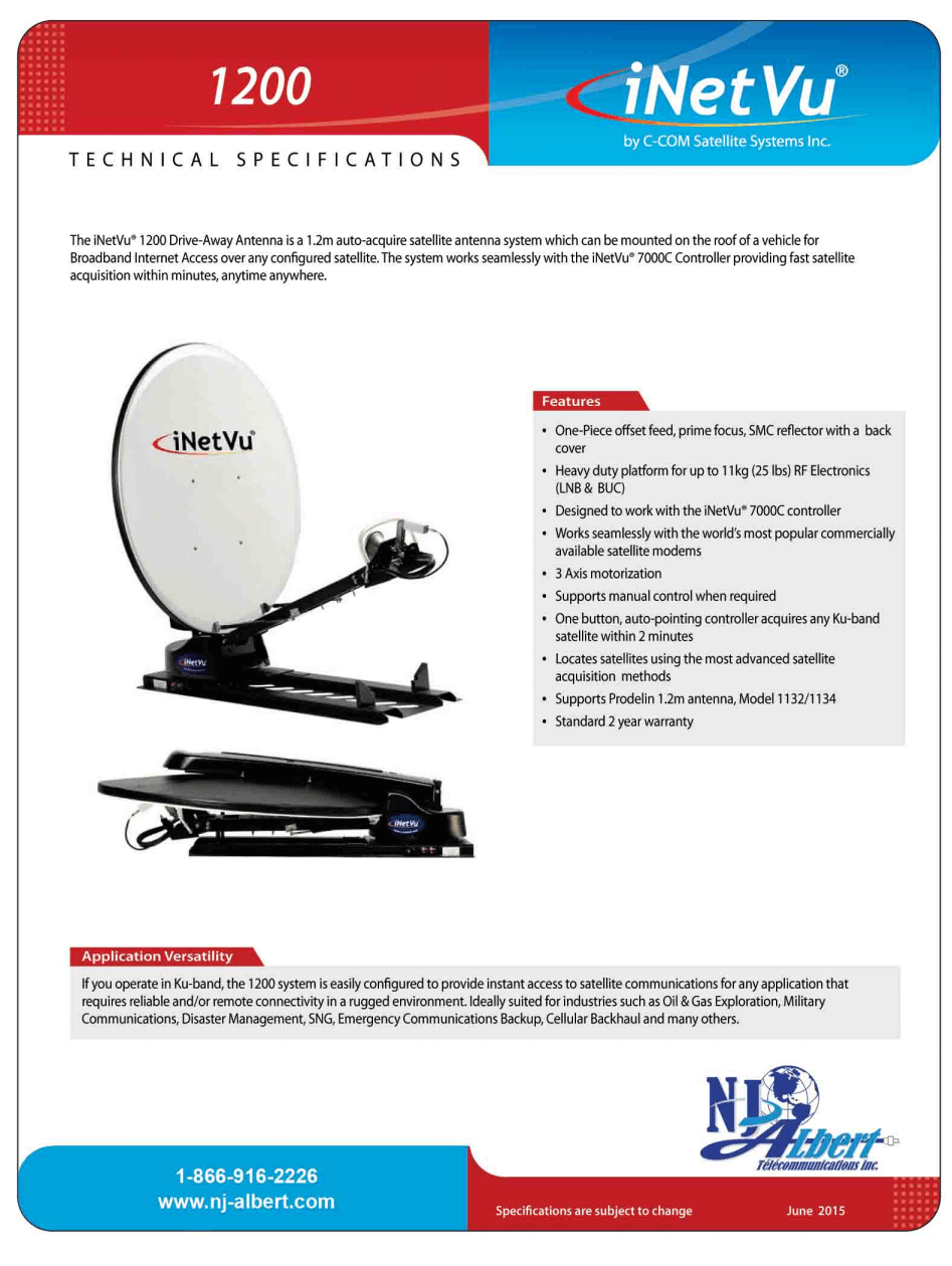 antenne 1200 specs page 1 tp