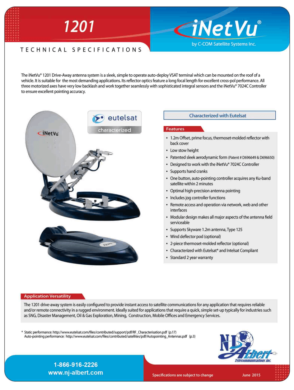 antenne 1201 specs page 1 tp
